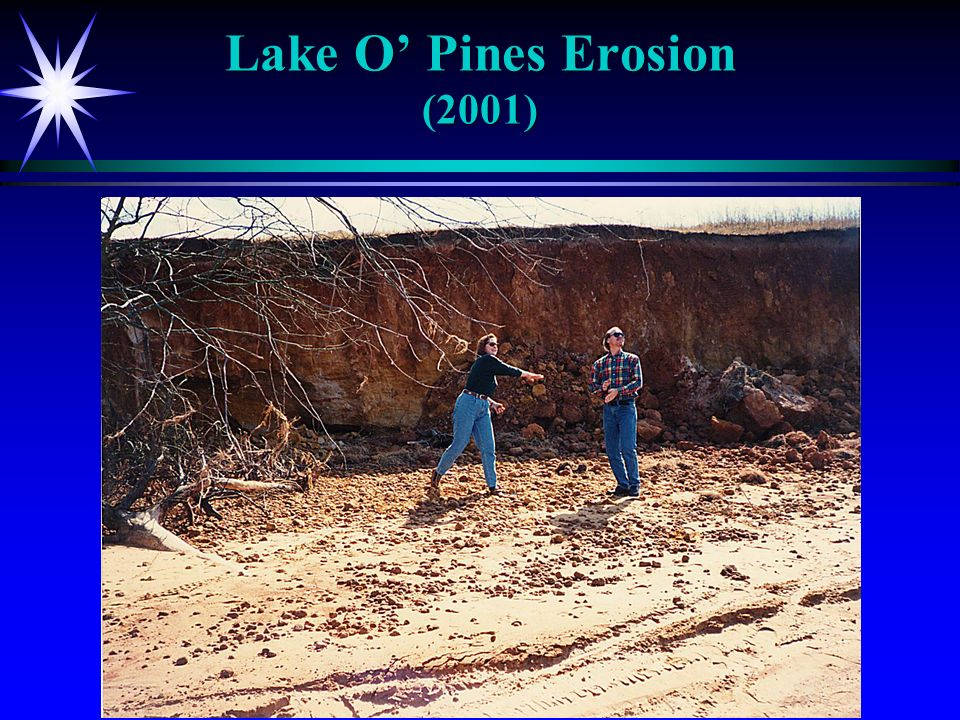 Lake O Pines Erosion (2001)