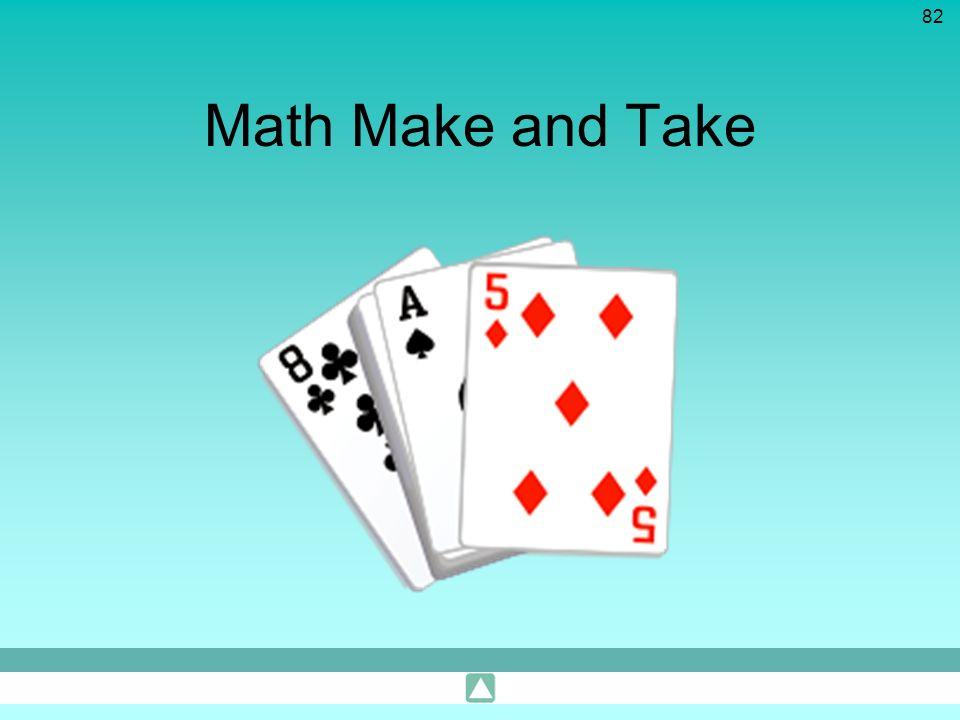 82 Math Make and Take