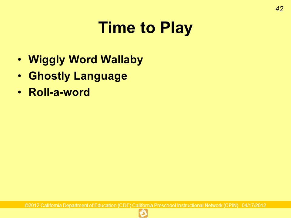 42 Time to Play Wiggly Word Wallaby Ghostly Language Roll-a-word