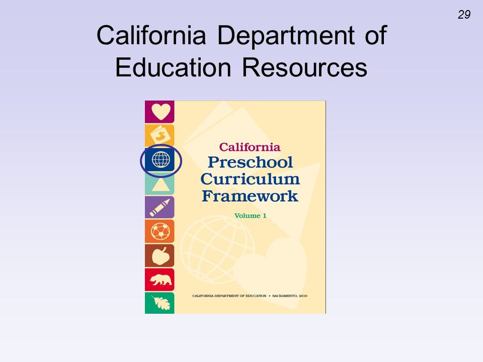29 California Department of Education Resources
