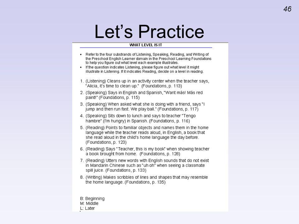 46 Lets Practice