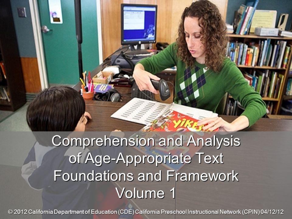 ©2012 California Department of Education (CDE) California Preschool Instructional Network (CPIN) 04/17/2012 12 DRDP 2010 Measure 18