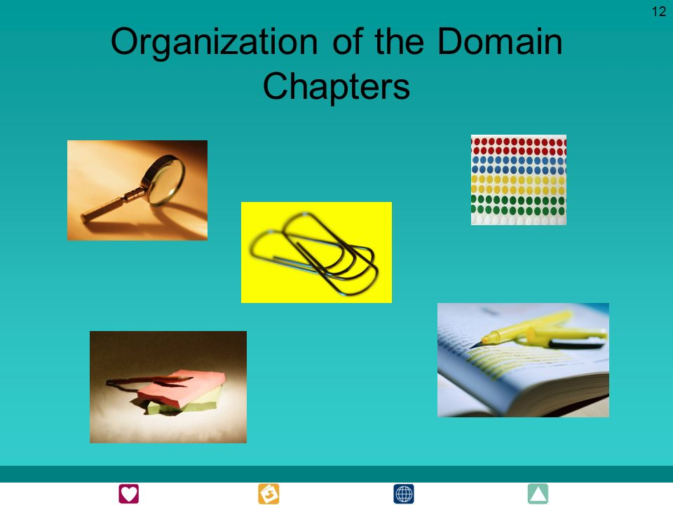 12 Organization of the Domain Chapters