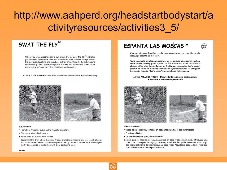 http://www.aahperd.org/headstartbodystart/a ctivityresources/activities3_5/