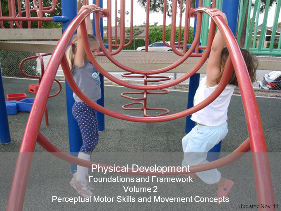Physical Development Foundations and Framework Volume 2 Perceptual Motor Skills and Movement Concepts 1 Updated Nov-11
