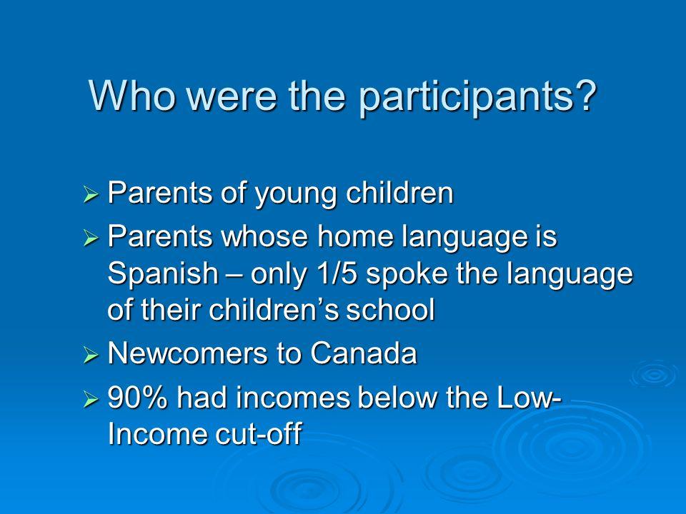 Who were the participants.