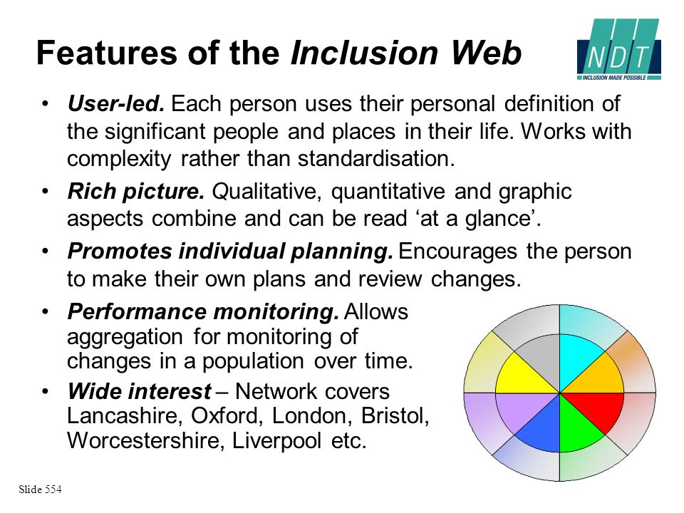 Evidence from the Inclusion Web Dataset of 19 from Oxford and 149 from Liverpool Highly significant (p<0.001) increases in people and places on both sites between time 1 and time 2.