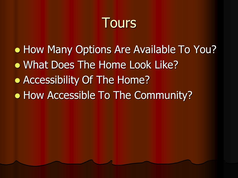 Tours How Many Options Are Available To You.How Many Options Are Available To You.