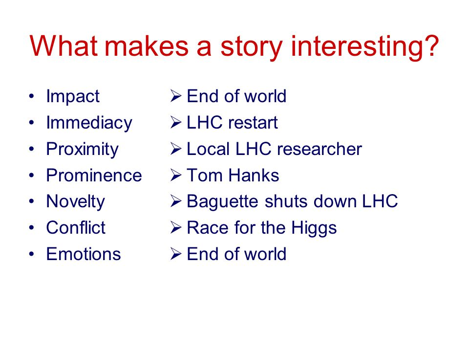 Key message example With the LHC, we will embark on a new era of discovery.