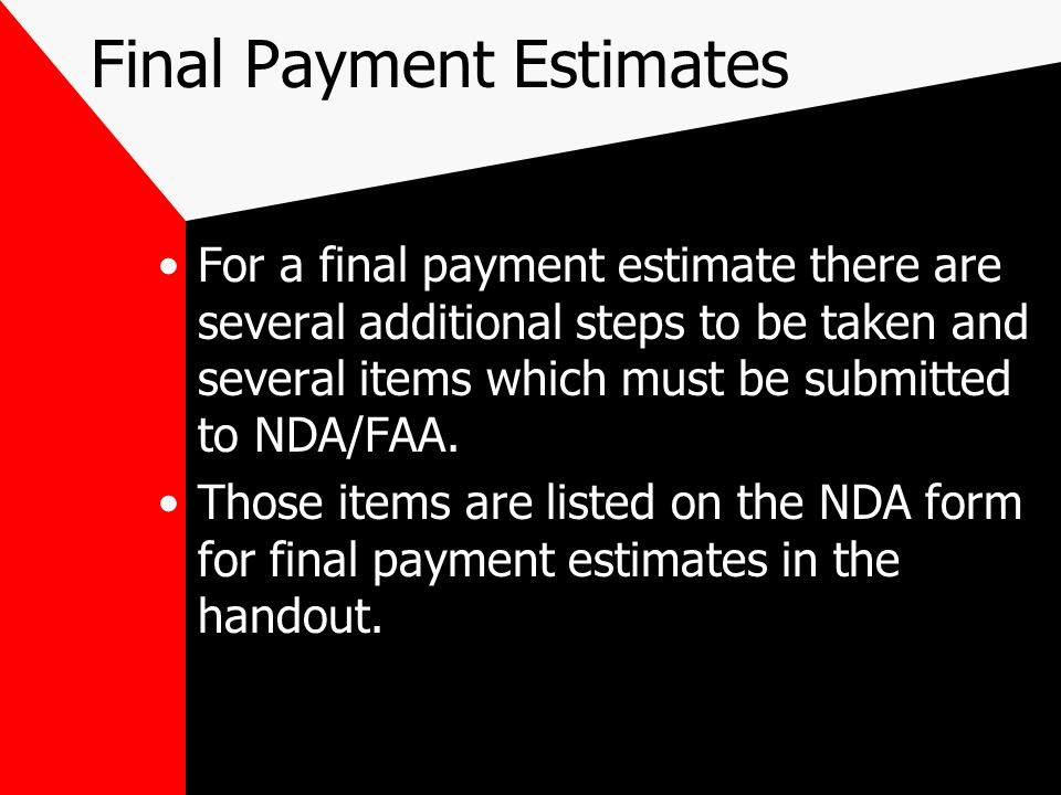 How to submit Other Costs Generally you (the sponsor) will have to submit these costs to NDA with a letter explaining them.