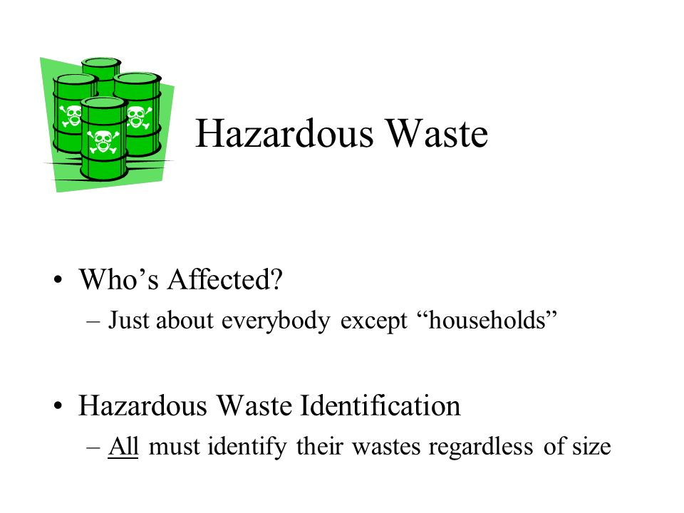 Waste Topics for Airports Hazardous Waste Common Wastes That Might be Hazardous Common Violations Contacts