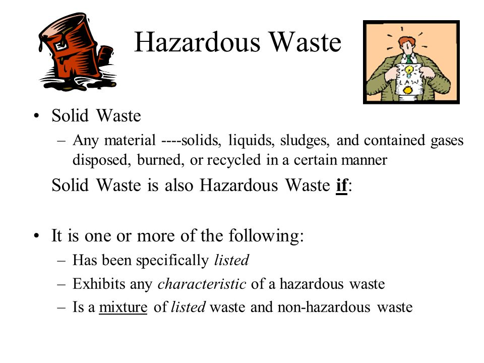 Hazardous Waste Whos Affected.
