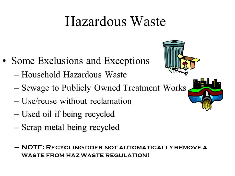 Hazardous Waste Waste Determination Steps 1.Is it excluded.