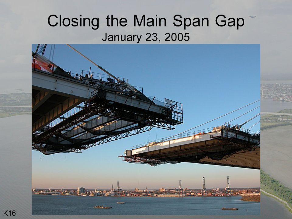 Closing the Main Span Gap January 23, 2005 K16