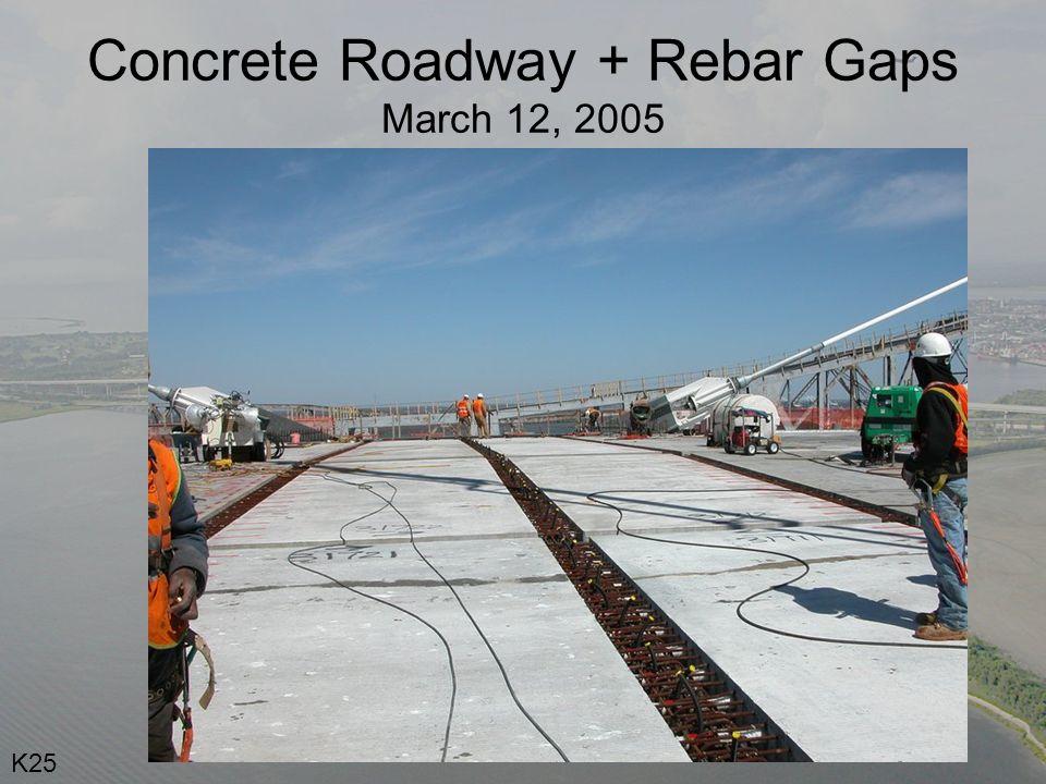 Concrete Roadway + Rebar Gaps March 12, 2005 K25
