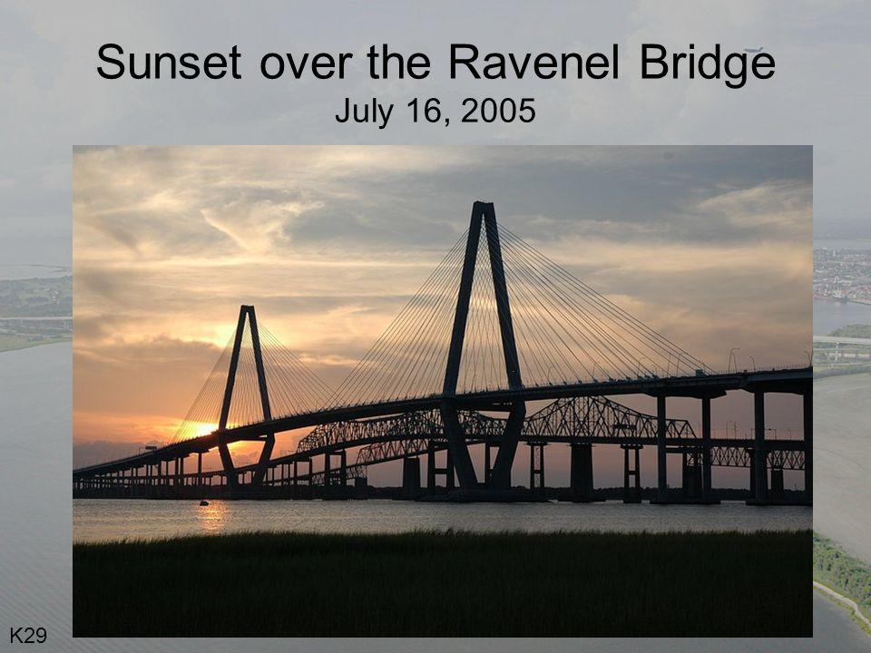 Sunset over the Ravenel Bridge July 16, 2005 K29