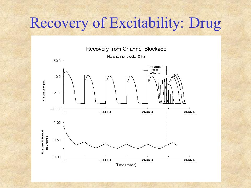 Recovery of Excitability: Drug
