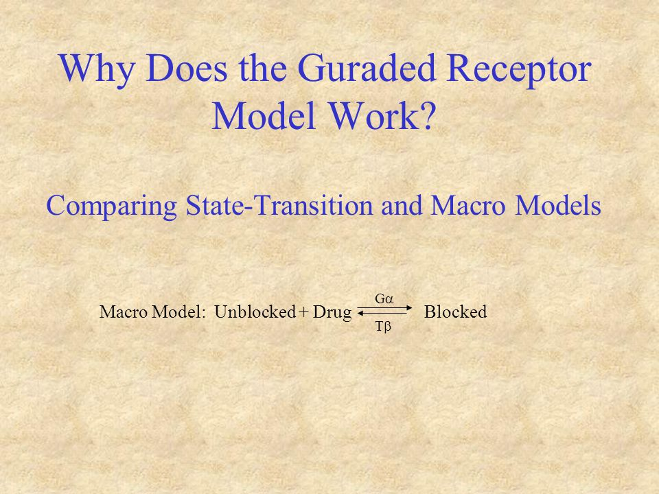 Why Does the Guraded Receptor Model Work.