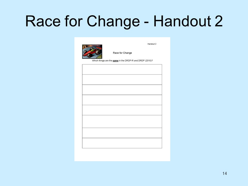 14 Race for Change - Handout 2