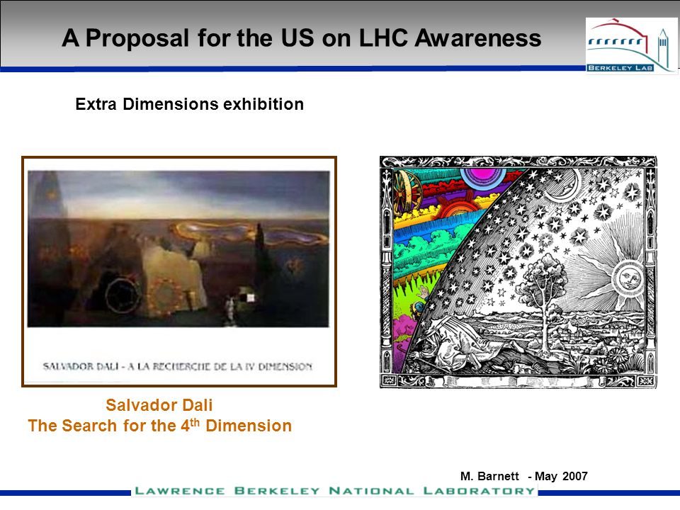 M. Barnett - May 2007 Extra Dimensions exhibition A Proposal for the US on LHC Awareness Salvador Dali The Search for the 4 th Dimension