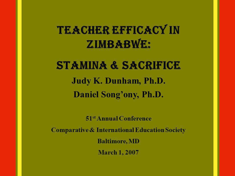 Overview Type of Research Background of Zimbabwe Self-efficacy Teacher Efficacy Methods Results Limitations Implications Conclusion