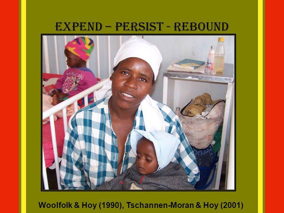 Expend – Persist - Rebound Woolfolk & Hoy (1990), Tschannen-Moran & Hoy (2001)