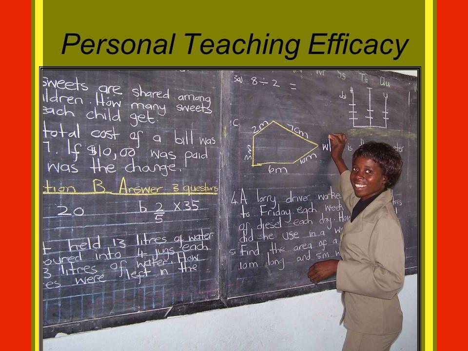 Personal Teaching Efficacy