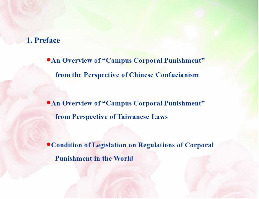 1. Preface An Overview of Campus Corporal Punishment from the Perspective of Chinese Confucianism An Overview of Campus Corporal Punishment from Persp
