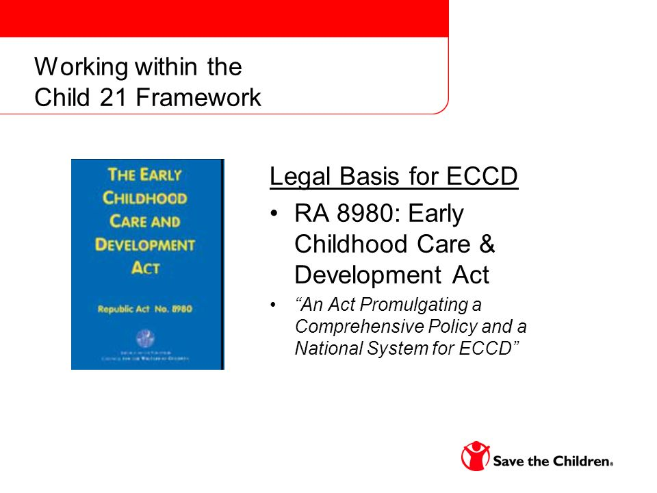 Moving Forward: Enhancing the Transition Process Continuity of Developmentally Appropriate Practice –Using a Transition framework deliberately links ECD and early primary school –Child-friendly schools promote holistic approaches that address the childs overall development and learning as well as their health and safety.