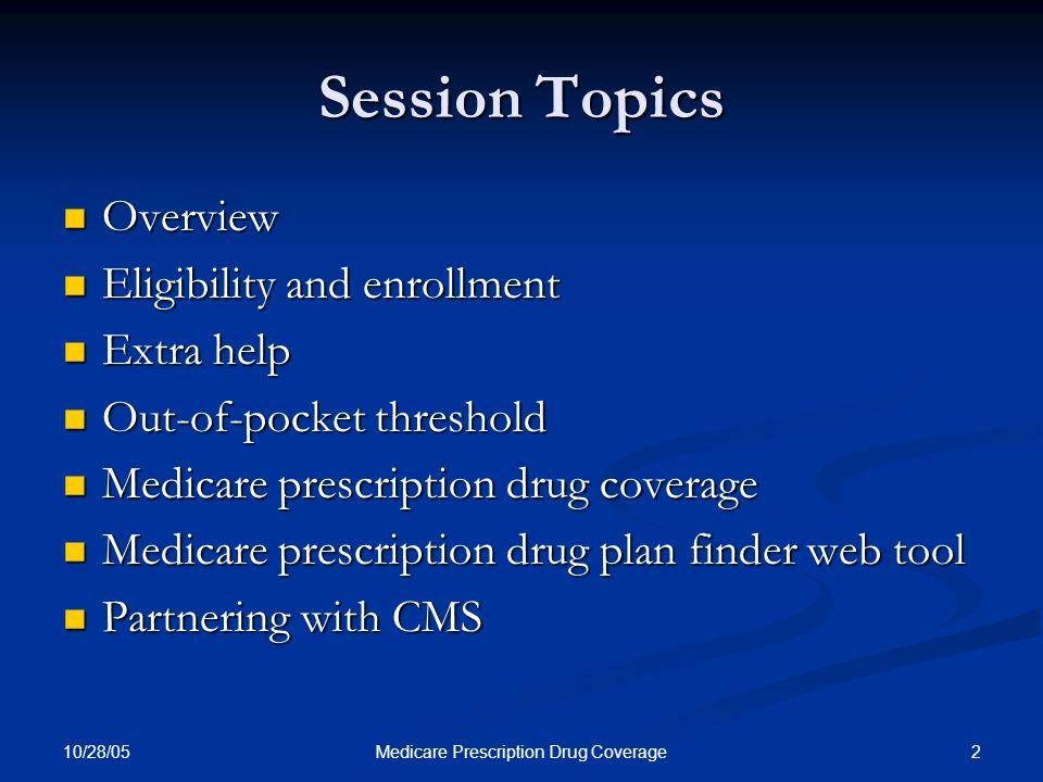 10/28/05 53Medicare Prescription Drug Coverage