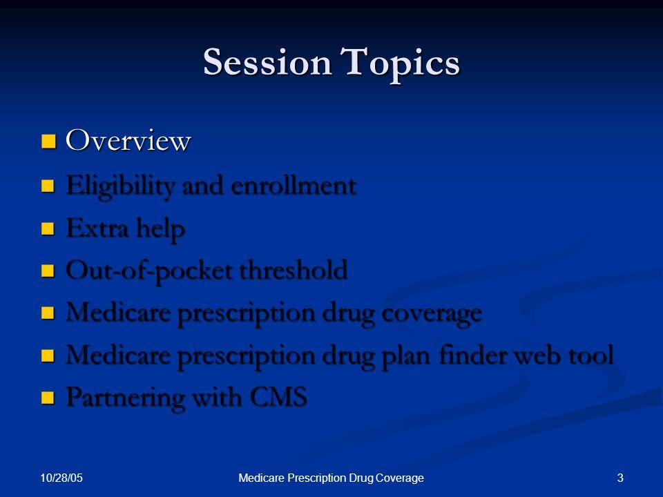10/28/05 54Medicare Prescription Drug Coverage