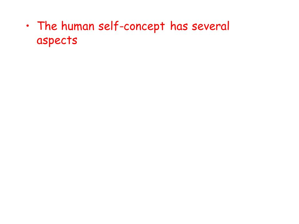 The human self-concept has several aspects