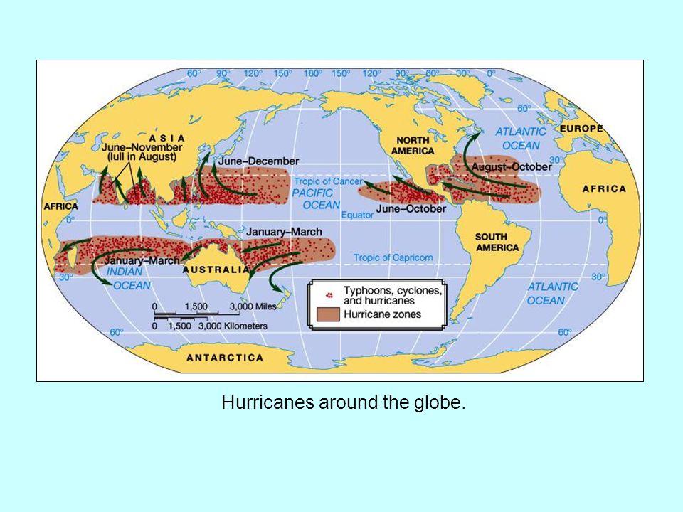 Hurricanes around the globe.