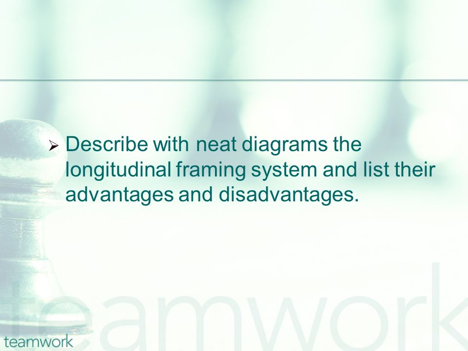 Describe with neat diagrams the longitudinal framing system and list their advantages and disadvantages.