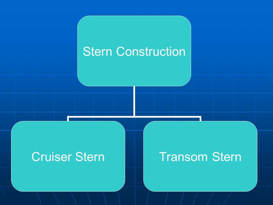 Stern Construction Cruiser Stern Transom Stern