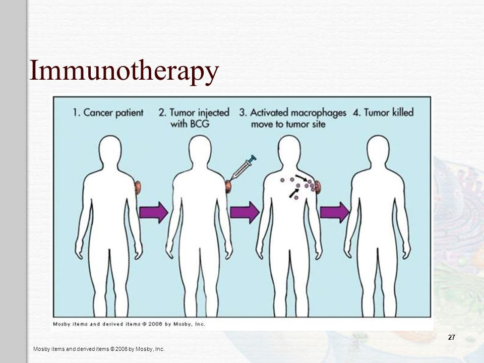 Mosby items and derived items © 2006 by Mosby, Inc. 27 Immunotherapy