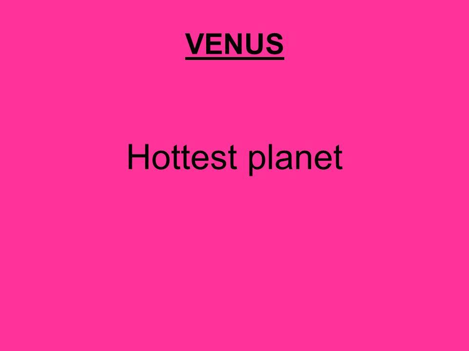 VENUS Hottest planet