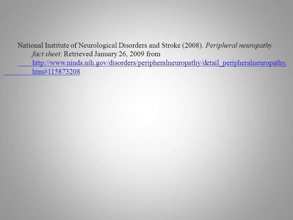 National Institute of Neurological Disorders and Stroke (2008).