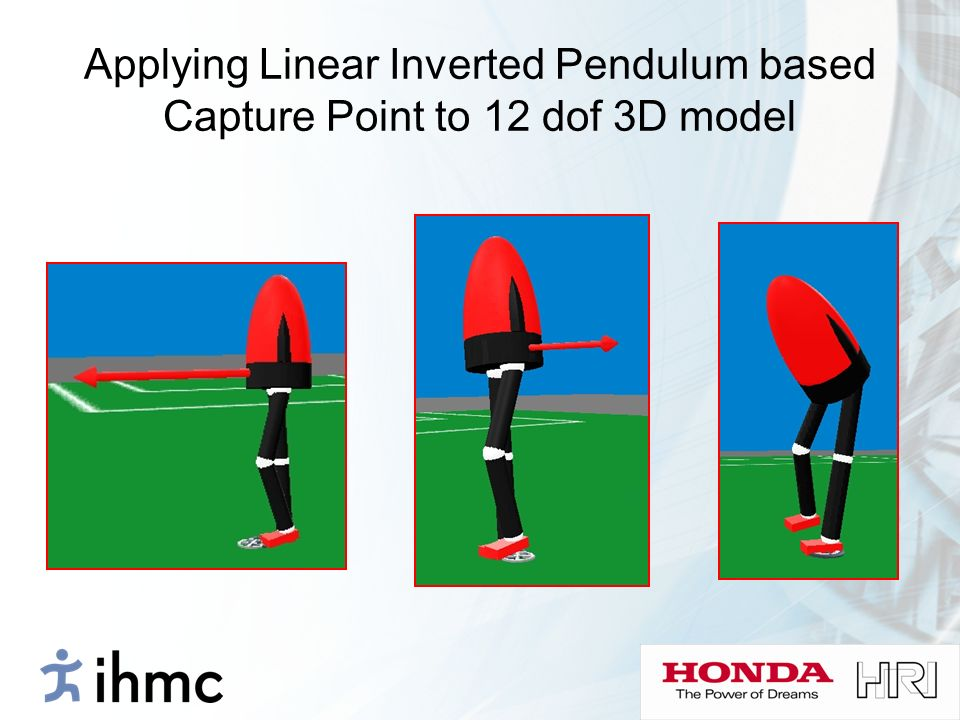 Applying Linear Inverted Pendulum based Capture Point to 12 dof 3D model