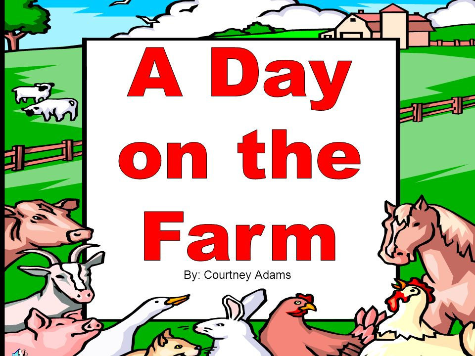 Now it is time to sing about the fun we had on the farm.