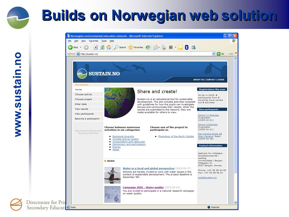 Builds on Norwegian web solution