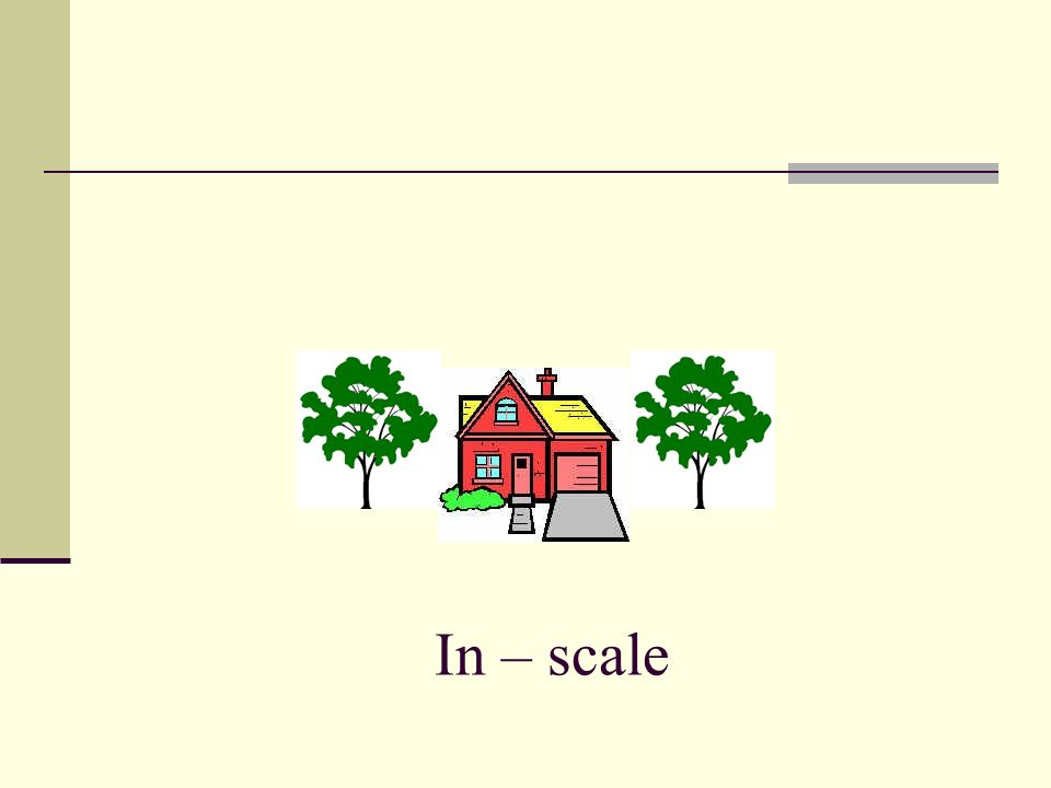 In – scale