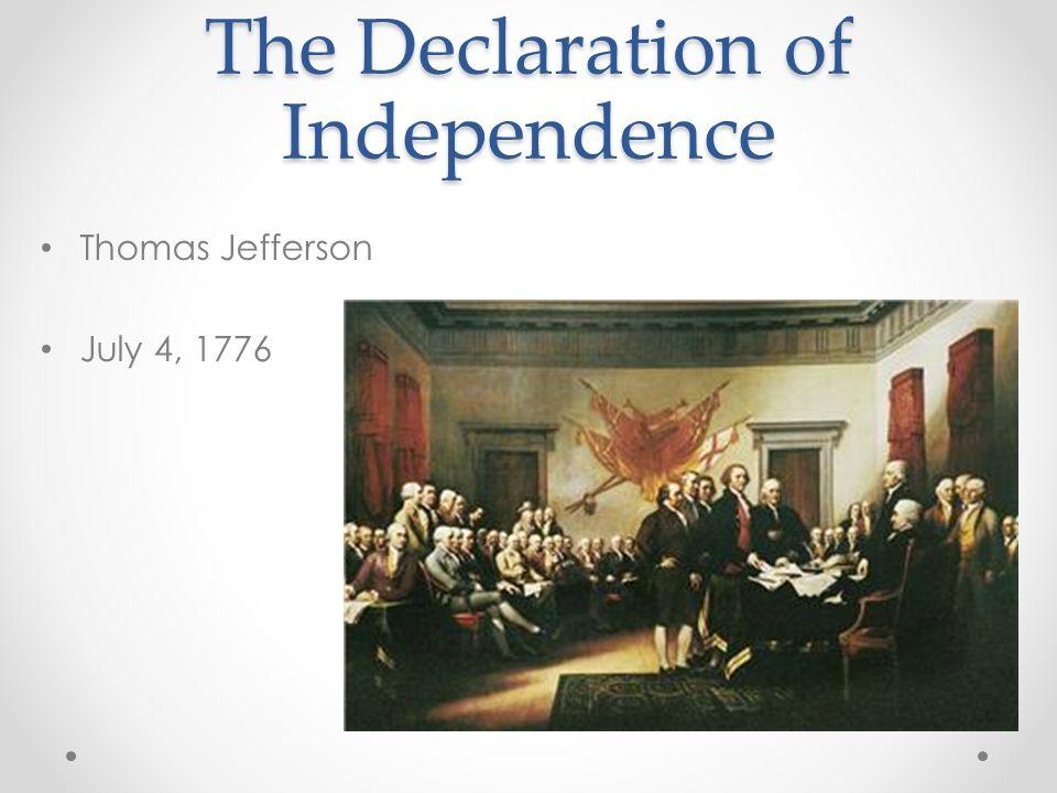 Thomas Jefferson July 4, 1776