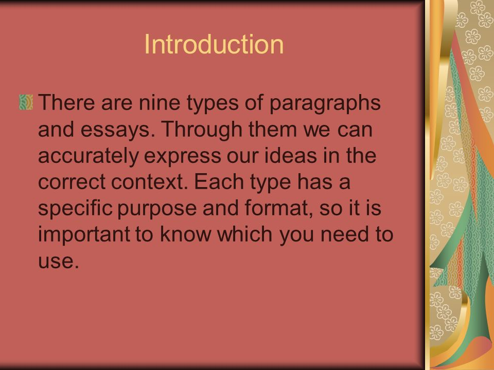types of paragraphs in an essay