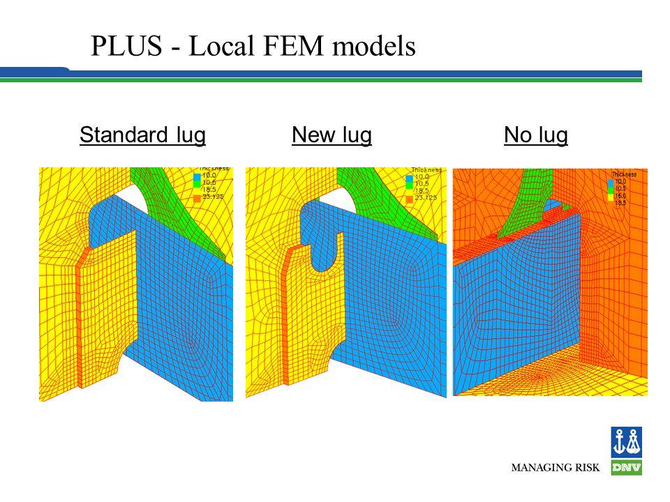 PLUS - Local FEM models Local models in D/B