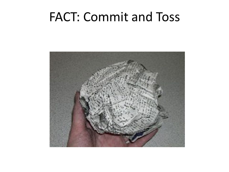 FACT: Commit and Toss nsta.org