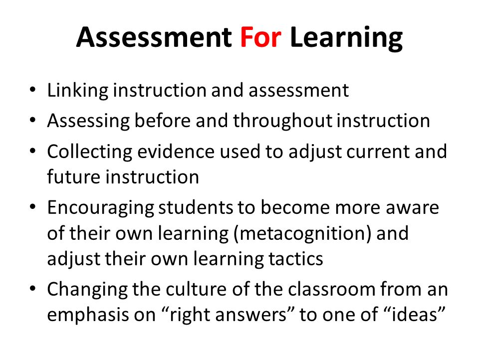 Transformative Assessment Assessment that fundamentally transforms teaching and learning.