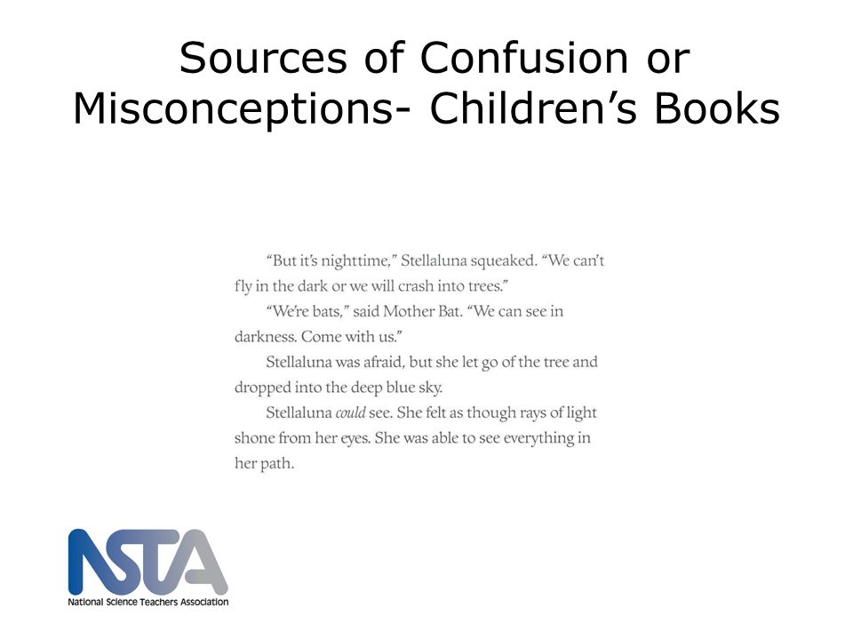 Sources of Confusion or Misconceptions- Childrens Books nsta.org