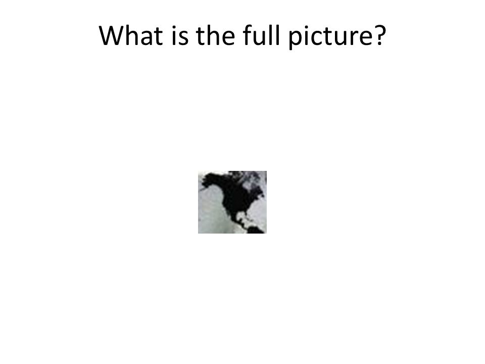 What is the full picture?