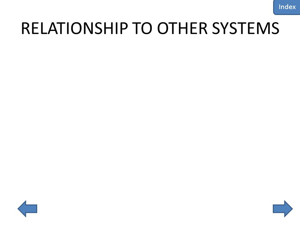 RELATIONSHIP TO OTHER SYSTEMS Index